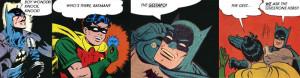 Batman, Robin, comic book, comic book quotes