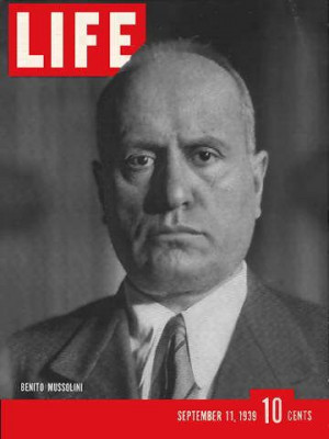 Here are some typical Mussolini quotes from original documents: