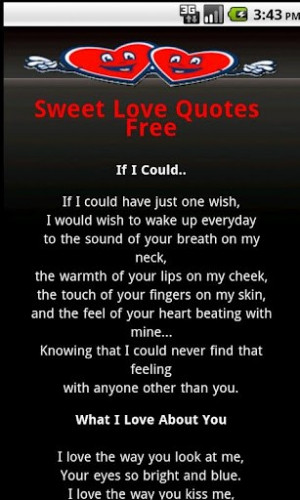 Sweet Love Quotes And Poems