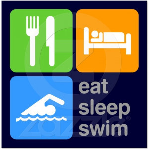 swimming quotes eat sleep swim poster from zazzle com
