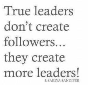 True leadership...