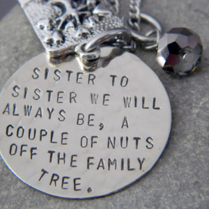 ... of nuts off The Family Tree Handstamped Necklace/Keychain. via Etsy