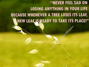 Meaningful quotes never feel sad