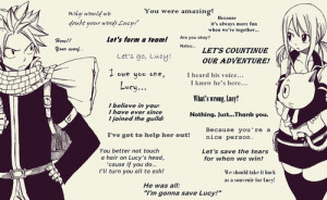 ... image include: anime, quotes, fairy tail, nalu and lucy heartfilia