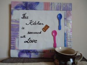 diy kitchen wall art, kitchen wall decoration, kitchen quote art, easy ...