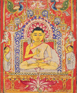 The Jina, or Mahavira, as Guru folio from a manuscript India, Gujarat ...