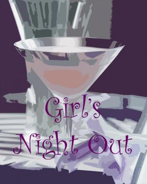 Girls Night Out Poster - copyright Cheri Loughlin