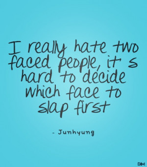 two- faced people