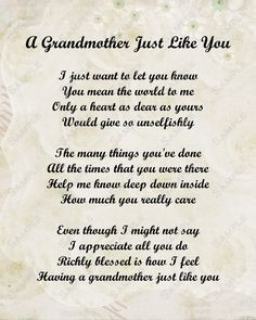 Grandmother Poem Love Poem INSTANT DOWNLOAD by queenofheartgifts, $8 ...