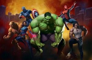 Marvel Superheroes team wallpaper funny