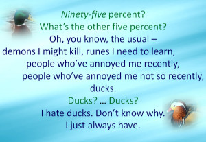 Will Herondale Duck Quotes Tmi - jace and ducks by