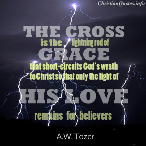 Tozer Quote - Lightning Rod of Grace - lightning at night