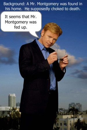 Horatio Caine One Liners Jokes Horatio caine one-liner 2 by