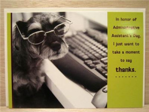 FUNNY DOG at KEYBOARD Administrative Assistant Secretary's Day PAPYRUS ...