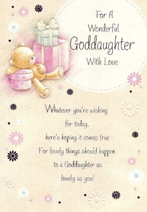 Goddaughter Birthday Cards