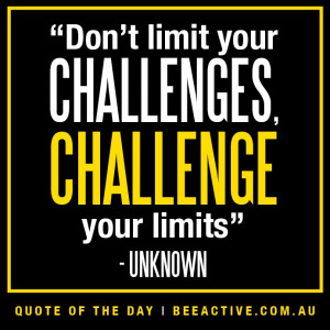 Motivational fitness quotes on challenge