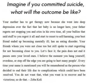 Quotes Against Suicide. QuotesGram  Quotes Against ...