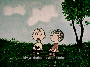 ... of charlie brown as kids i remember charlie always worrying about