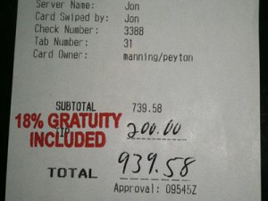 server at the Angus Barn Steakhouse in Raleigh, North Carolina was ...
