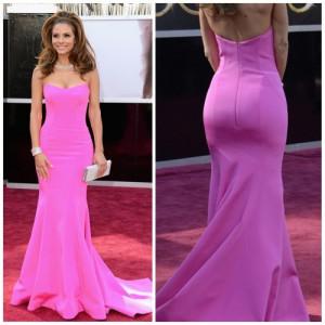 Maria Menounos Pink Celebrity Evening Dress the 85th Annual Oscar ...
