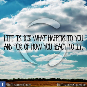 ... what happens to you and 90% how you react to it #Inspiration #Quotes