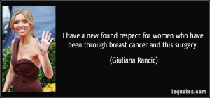have a new found respect for women who have been through breast ...