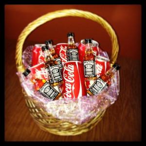 Jack and Coke basket: Diy
