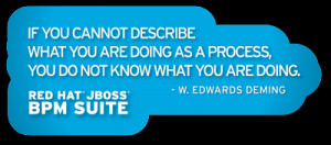 process quote from Edwards Deming, probably the most popular JBoss ...