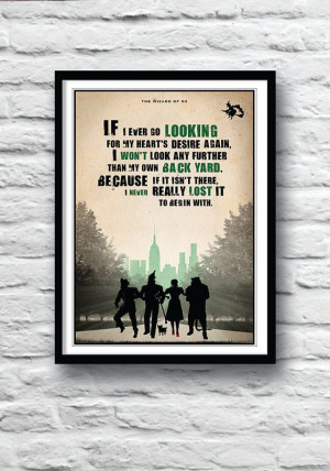 The Wizard of Oz, Poster, Movie quote, Inspirational print, Wall decor ...