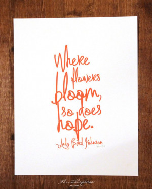 Lady Bird's Quote - Red. $25.00, via Etsy. #floral #flowers #spring # ...