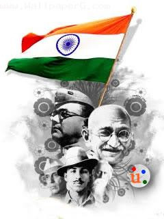 Download Flags indian freedom fighters - Republic day wallpapers