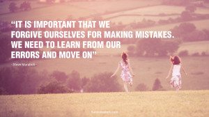 ... . We need to learn from our errors and move on.