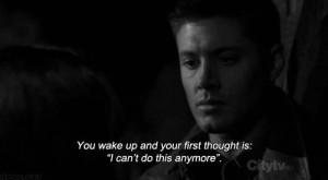 Sad Supernatural Quotes Tumblr Depression. supernatural.