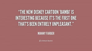 The new Disney cartoon 'Bambi' is interesting because it's the ...