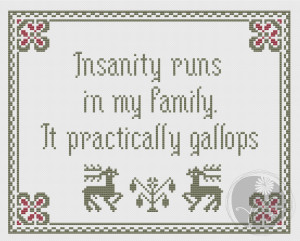 Embroidery: Arsenic and Old Lace Insanity quote