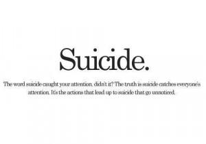 Suicide..