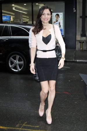 Arriving for The Today Show in NYC, a smiling Bethenny Frankel was ...