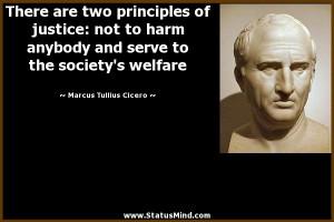 ... the society's welfare - Marcus Tullius Cicero Quotes - StatusMind.com