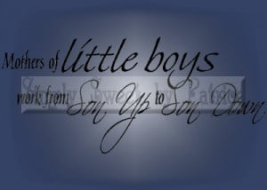 Details about MOTHERS OF BOYS Vinyl Wall Saying Lettering Quote Art ...