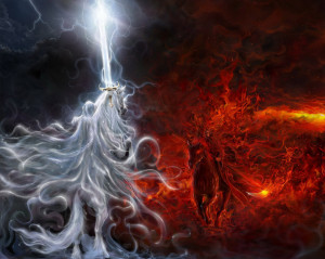 Light vs Dark - Angel vs Demon by yasinargu