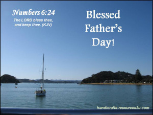 Free Christian Father's Day Card or Poster with Bible verse