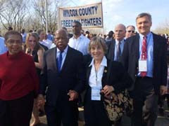Rep. Jan Schakowsky Joined President Obama, Rep. John Lewis and Others ...