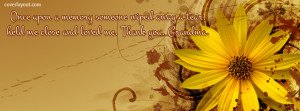Once Upon A Memory Grandma Facebook Cover Layout
