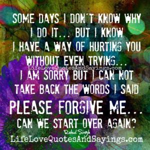 Please forgive me....