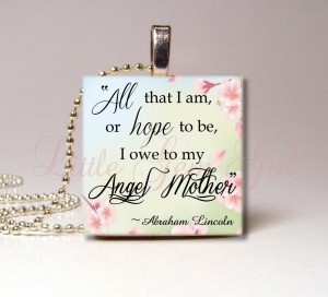 Mom In Heaven Quotes Mothers day quote necklace