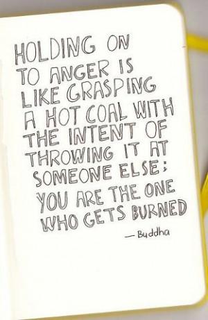 Let go of anger