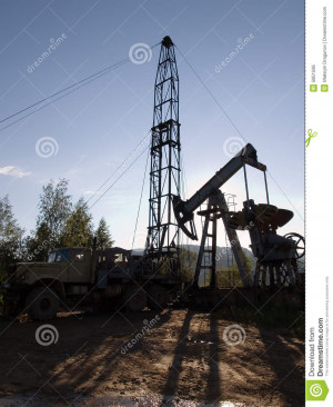 Drilling For Oil Royalty Free Stock Image