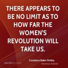 There appears to be no limit as to how far the women's revolution will ...