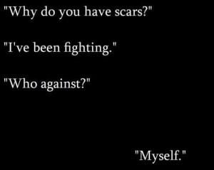 depression self harm scars
