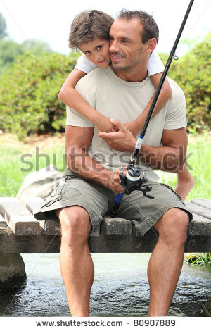 father and son fishing clip art , facebook profile template word ...